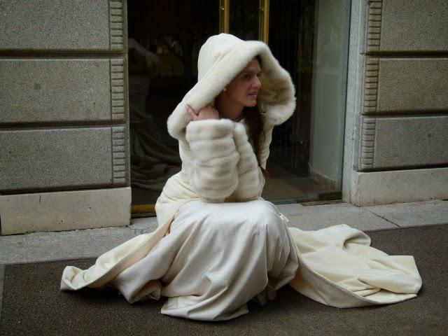abrigo para novia invierno